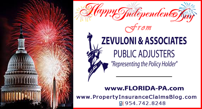 Happy July 4th from Zevuloni & Associates, Public Adjusters
